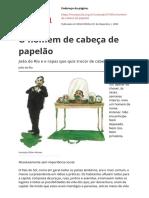 Texto para aula o Homem de Cabeca de Papelaopdf