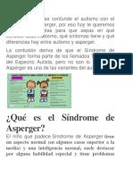 Frecuentemente Se Confunde El Autismo Con El Síndrome de Asperger