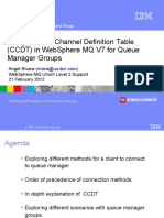WSTE Using CCDT MQV7 for Queue Manager Groups