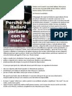 Lezione i Gesti Italiani