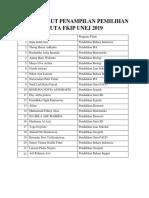 No Urut Pemilihan Duta FKIP