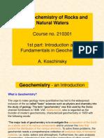 Geochemistry Introduction