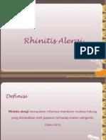 Rhinitis Alergi .Ppt