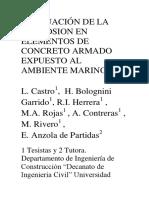 Evaluación de La Corrosion en Elementos de Concreto Armado
