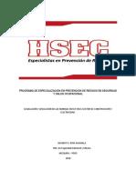 Programa de Especialización en Prevención de Riesgos en Seguridad y Salud Ocupacional