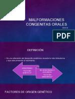 MALFORMACIONES CONGENITAS ORALES
