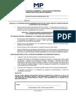 Declaración Articulo 77 Ley Organca Mp