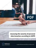 Assessing the Severity of Personal Data Breaches According to GDPR En
