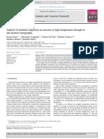 Análisis de La Migración de La Humedad en El Hormigón a Alta Temperatura a Través de La Tomografía de Neutrones in Situ