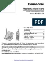 Kx Tg2130 Manual