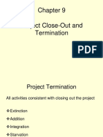Chapter 9 Project Close-Out and Termination