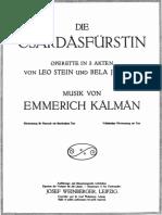 Die Csárdásfürstin Pianosolo Mit Text