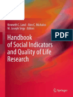 Handbook of Social Indicators and Qol Research