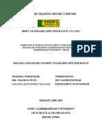 selling strategies of hdfc