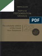 Novum Testamentum Graece - Kurt & Barbara Aland - 28 Ed. Em Alemão