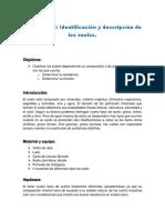 Identificacion y Descripcion de Los Suelos.