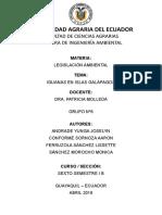 Grupo 6-Iguanas en Islas Galapagos-legislacion Ambiental- Ing Ambiental