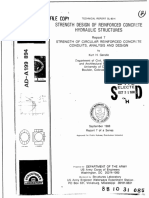 Strength Design of Reinforced Concrete Hydraulic Structures