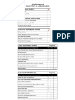 Standard Work for Leaders Daily Checklist Sample