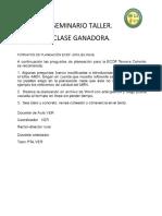 Formato de PLANEACION Pedagogica (FPPV)