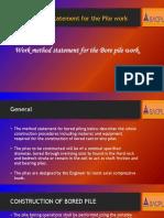 Work Method Statement of Piling Work
