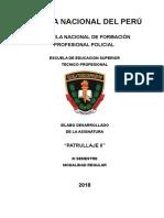 Silabus de Patrullaje II (Actualizado) ESPARTANOS 2018-2019
