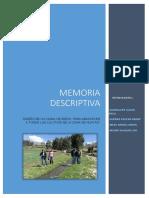 Memoria Descriptiva - Cedula de Cultivo