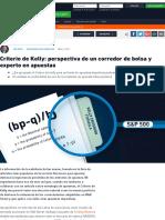 Análisis Del Método de Apuesta Basado en El Criterio de Kelly