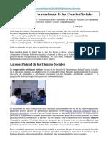 Las Efemérides y La Enseñanza de Las Ciencias Sociales- Ver Link