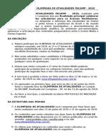 Regulamento Da Olimpiada de Atualidades Facamp (1)