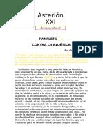 Alejandro Miroli. Panfleto Contra La Bioética.