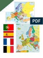 Mapa da Europa.