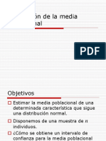 Estimacion de La Media Poblacional (Formulas)