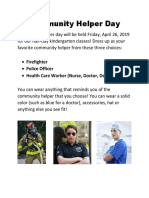 community helper day newsletter