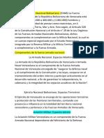 Isa Fuerzas Armadas Bolivariana