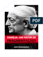 Familia - Um Fator de Fragmentação-Jiddu Krishnamurti