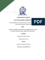 Análisis y Diseño de Un Prototipo Administrativo Para El Centro Odontológico Laboratorio Movident