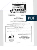 25th Annual Putnam County Spelling Bee - Libretto w. Vocal Book
