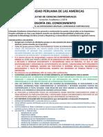 Indicaciones de Las Exposiciones Grupales- 2018- II- FILOSOFÍA DEL CONOCIMIENTO- Mg. Santos E. Palacios Carassa