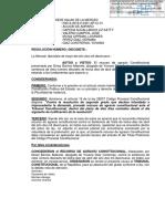 ADMITEN AGRAVIO CONSTITUCIONAL