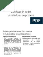 Clasificación de Los Simuladores de Proceso
