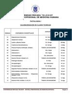 Programacion de Actividades Patologia General Up Telesup 2019-1 - 13 Abril 2019 Lunes