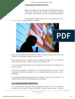 ¿Qué Es Una Presentación Electrónica_ - Lifeder