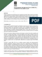 DIMENSIONAMENTO DE SISTEMA DE PREVENÇÃO E COMBATE A INCÊNDIO DE UMA EDIFICAÇÃO