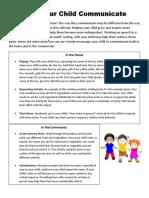 help your child communicate handout  activity 9