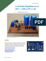 Fuente de Poder Regulable Con El LM317 1.25V a 37V x 1.5A