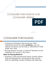 Consumer Purchasing and Consumer Credits