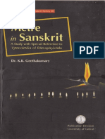 Metre in Sanskrit - A Study With Special Reference to Vrttavartika of Ramapanivada by Dr. K.K. Geethakumary