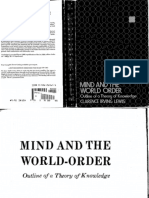 Clarence Irving Lewis - Mind and the World Order_ Outline of a Theory of Knowledge (Dover Books on Western Philosophy) (1991, Dover Publications)