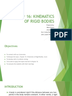 Chapter 16 Kinematics of Rigid Bodies